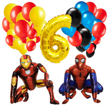 Children kids marvel iron man spider boy balloon bundle birthday helium air foil