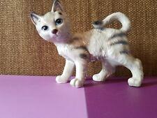 Vintage Gray  Cat  Kitten ~ Ceramic Figurine ~ Japan ~