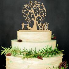 Bride and Groom Cake Topper Tree & Mr & Mrs Wedding Cake Topper Decorating Hot