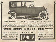 W9066 LANCIA - Landaulet Limousine - Pubblicità del 1917 - Vintage advertising