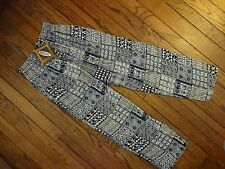 New! Revue Black, Blue, and White Elastic Waist Pants       Size Large