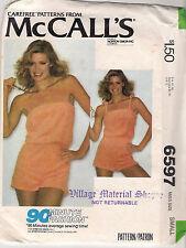 McCall's Sewing Pattern 6597, Vintage Playsuit, Dancewear, Adult 10-12, Uncut