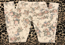 Almost Famous Floral Stretch Low Rise Skinny Jean Size 0
