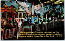 Fresno, California Postcard Roeding Park Playland Storyland Zoo Dated 1970
