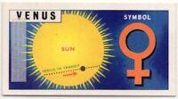 Venus  Planet Solar System Space Telescope  Vintage Trade Ad Card