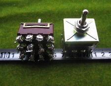 SW25 NEU 2 Stk. Miniatur Kippschalter 4x EIN/AUS/EIN Schalter Schraubanschlüsse