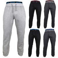 Mens Location Fleece Cuffed Pants Joggers Tracksuit Bottoms Jogging Pant Sport