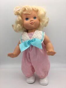 Baby Wanna Walk Doll 1991 Vintage Hasbro Original Outfit Walks Crawls Works