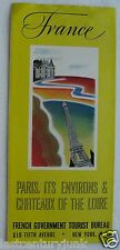 Travel Brochure For France, Paris, Its Environs & Chateaux Of The Loire c1930s