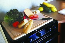 Camco RV Stove Topper Cutting Board Cover Wood Extra Space Camper Trailer top