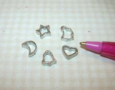 Miniature Metal Cookie Cutters (Set A) for DOLLHOUSE Miniatures 1:12 Scale