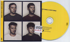 EVERYTHING EVERYTHING Arc UK 13-trk numbered promo test CD sealed card sleeve