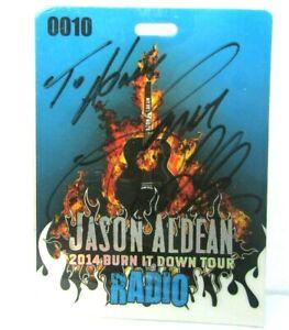 Jason Aldean 2014 Burn It Down Tour Signed Autographed Backstage Pass Radio