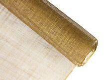Stiffened Sinamay Millinery Fabric - Metallic Gold - 1 Meter x 90cm
