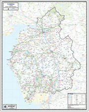 CUMBRIA COUNTY WALL MAP - MAP SCALE 1:150,000
