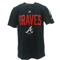 Atlanta Braves Official MLB Majestic Apparel Kids Youth Size Athletic Shirt New