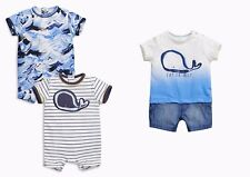 BNWT NEXT Baby Boys Romper All in One Bundle Set Whale Waves Outfit 3-6 M