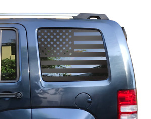 USA American Flag Decal Fits Jeep Liberty - Window Star Merica 2007-2012 KK1