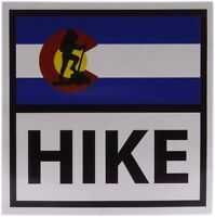 "Colorado State Flag HIKE Sticker Decal 4"" x 4"""