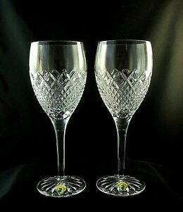 *NEW* Waterford CASTLE NORE (2) Goblets Glasses 154766 in the Original Box.