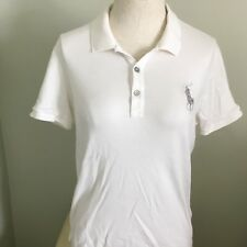 Ralph Lauren Polo Golf White Short sleeve Golf Shirt Women L Cotton Large  Horse