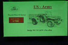 HP Models 1:700 Fahrzeug-Serie- -Set mit 12 Dodge WC 51 LKW 1,5to offen der USA