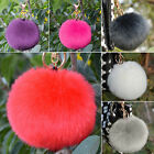 Decent Furry Ball Keychain Bag Hanging Tail Accessories Rabbit Fur Key Ring
