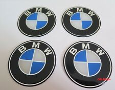 BMW *new*  Wheel Centre Hub Caps Badge Emblem Stickers 70mm / 7cm-  Set of 4