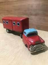 Vintage CFC Tin Collector Truck and Trailer - Red and Blue - Made In Japan