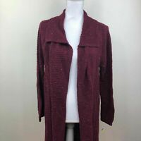 Style & Co. Womens Sweater Cardigan Wine Burgundy Speckle Variety Sizes