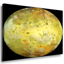 Mond Gelb Vulkan Leinwandbild AK Art Bilder Mehrfarbig Kunstdruck XXL Wandbild
