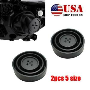 Pair rubber housing Sealed Cap Auto Dust Cover for Car Headlight LED HID Lamp