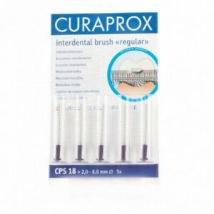 Curaprox CPS 18 Interdental Brush Regular - Violet 2.5 -8mm - 1 Pack Of 5pcs