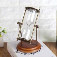 15 min Horloge de sable Sablier Minuterie en Métal Sable verre Tournant Ornement