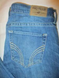Hollister Laguna Skinny Stretch Women's Blue Denim Jeans Size 5 L x 34
