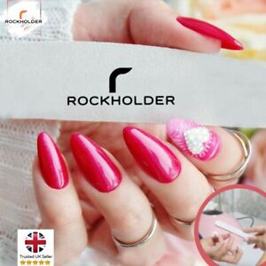 Professional Nail Files 100/180/240 Grit Half Moon Buffer Emery Manicure Tool