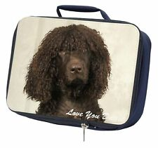 More details for irish water spaniel 'love you dad' navy insulated school lunch box ba, dad-59lbn