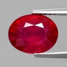 Only! $39.96/1pc 9x7mm Oval Natural Top Red Ruby (Heated Glass Filled)