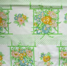 Cannon Monticello Twin Sheet Set Garden Lattice Flat 2 Fitted Cases Vintage