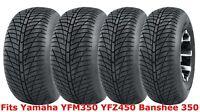 Set 4 21x7-10 & 20x10-9 Yamaha YFM350 YFZ450 Banshee 350 Hi-speed ATV tires