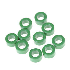 10Pcs Inductor Coils Green Toroid Ferrite Cores Anti-interference 10mm*6mm*5mjJB