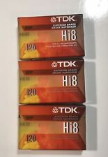 Lot of 3 TDK Hi8 MP 120 Camcorder Superior Grade