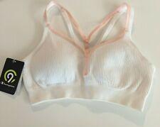 C9 Champion Ivory & Pink Trim Duo Dry Seamless Cami Sports Bra Women Size XS