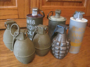 Vietnam Era Movie Prop Grenade Collection
