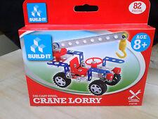 Super Build It Die Cast Steel Crane Lorry 82 Piece Construction Kit Age 8+ BNWT