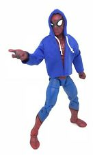 "NOX-ST-SB: FIGLot 1/12 blue fabric hoodie for 6"" Marvel Spiderman (No Figure)"
