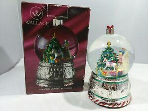 Wallace Christmas Morning Musical Snow Globe in Original Box
