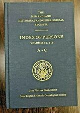 New England Historical & Genealogical Register, Index of Persons, 4 vols