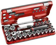 Facom 25pc 1/2in Drive 10 - 32mm Socket Set with Extendable Ratchet SXL.DBOX3