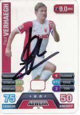 Paul Verhaegh  FC Augsburg  Match Attax Card 2015/16 signiert 404698